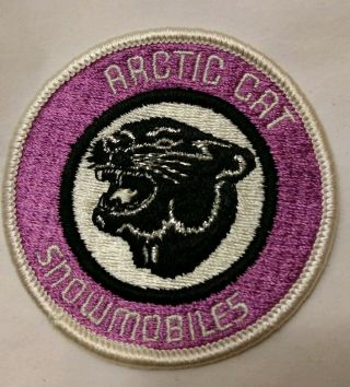 "Nos Vintage 1970s Arctic Cat Snowmobiles Embroidered 3 "" Sew On Patch"