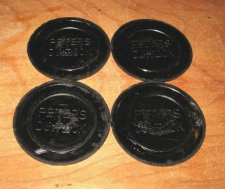 Nos 4 Antique Peters Duvrock Clay Targets From Kings Mills Ohio Area