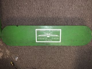Vintage Flying Ace Road Surfer Green Moen Patton Lancaster Pa Skate Board Rare