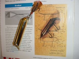Rare 1920s Frank Koepke Type Lure All Brass