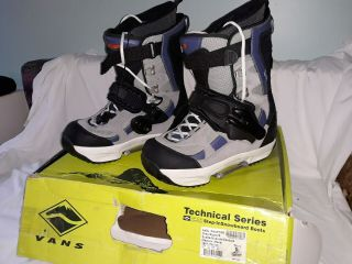 Rare Vans Technical Series - Switch Compatible,  Step - In Snowboard Boots Men