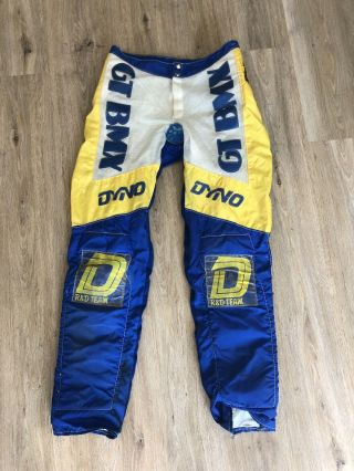 Retro Gt Dyno Bmx Rare R&d Team Pants