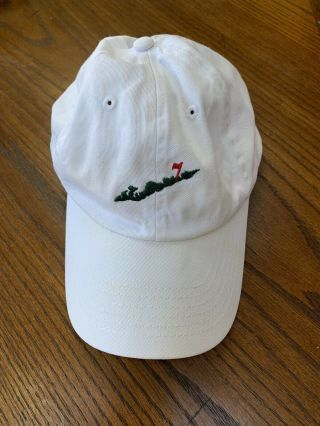 Fishers Island Club Imperial Golf White Hat Cap Rare Logo