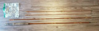 Rare Vtg Goodwin Granger Co Denver Deluxe Bamboo Fly Fishing Rod 3 Pc 2 Tips