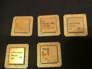 Intel R80186,  Amd R80186,  80186,  Vintage Collectible Cpu Not Scrap Rare Chips