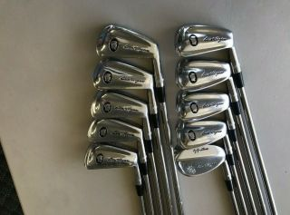 Rare Ben Hogan Apex Ii Forged Black Cameo 2 - E Irons Iron Set Steel - 4 Stiff