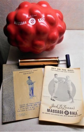 Vintage Jack Lalanne Massage O Ball W Box Books Pump Rare