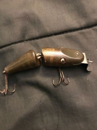 Vintage Ccb Creek Chub Bait Co.  Pikie Fishing Lure In Cond Smaller
