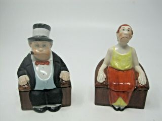 Maggie & Jiggs 1923 Very Rare Vintage Comic Characters Feature Services Ceramic