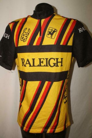 Vintage Raleigh Mens Medium Rare Cycling Bike Jersey Vtg Retro Giordana