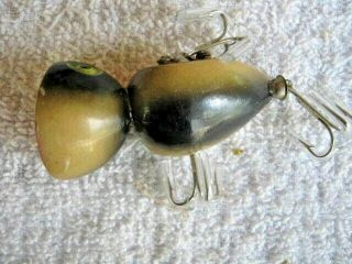 Rare Old Vintage Orchard Kick - N - Kackle Topwater Wood Lure Lures