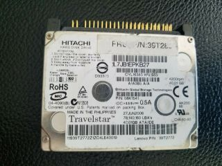 Ibm Travelstar Hitachi 92p6085 Ide Pata Laptop Hard Drive (very Rare)