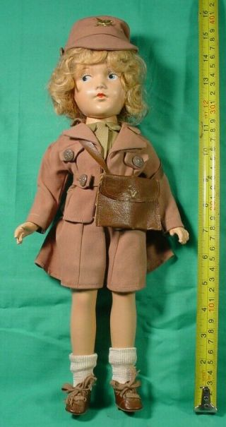 Rare Mme.  Alexander 1943 Doll Waac Us Army Wwii Women's Army Auxilliary Corps