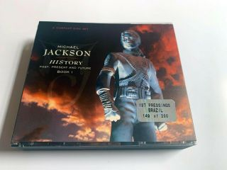 Michael Jackson History Brazil 2 Cd Rare Hologram First Pressing Gold Limite 200