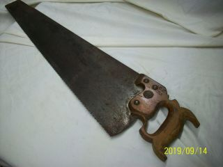 """Antique Hand Saw Rare 24 Inch """" Disston And Sons S.  C.  U.  S.  A.  """" - - - - - - L@@k"""