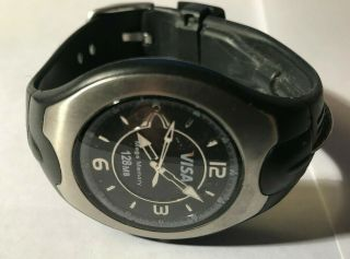 Rare Men's Visa Watch W/ 128 Mb Mega Memory Flash Storage Drive Usb Cond.