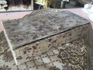 Very Sweet Antique Sewing Foral Wallpaper Box 1920s N
