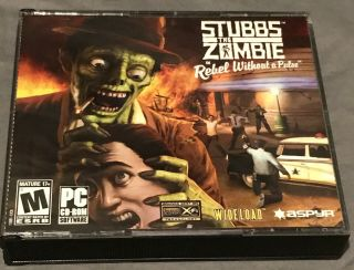Rare Stubbs The Zombie Rebel Without A Pulse Pc Cd - Rom Game 3 - Discs Horror