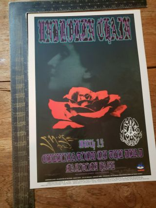 """Rare """" Unbroken Chain """" Stanley Mouse Hand Signed 13x19 Color Poster"""