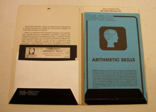 Rare,  Classic,  Compu - Math By Edu - Ware For Apple Ii Plus,  Apple Iie,  Iic,  Iigs