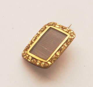 Rare Very Sweet Antique Georgian Small Mourning Gold Brooch