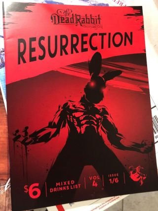 Dead Rabbit 1 4th Edition Rare Mixed Drink Menu Resurrection Hard To Find
