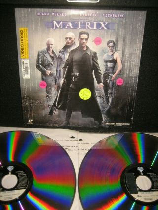 The Matrix Laserdisc Ld Keanu Reeves Wachowski Brothers 1999 Mega Rare
