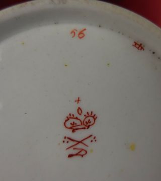 Antique Royal Crown Derby Early 1800s Mark Porcelain Vintage Tea Coffee Cup