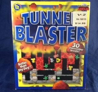 Tunnel Blaster Pc Cd Underground World Monsters Rare Big Box