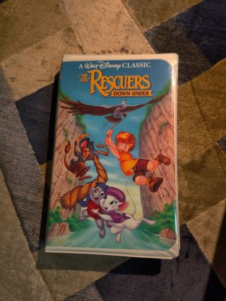 Extra Rare Black Diamond Edition Vhs - The Rescuers Down Under Classic Vhs