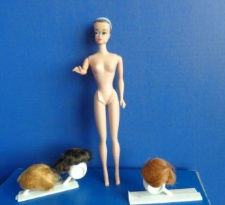 Vintage Barbie Fashion Queen Doll With Wigs