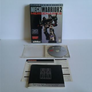 Mechwarrior 2 Box Pc Game Mercenaries Titanium 3d Accelarated Vintage Rare