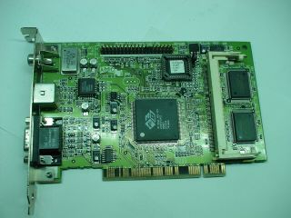 Ati 3d Rage Pro Pci Vga Pc Computer Graphics Card 109 - 41900 - 00 Amc Ver2.  0 Rare