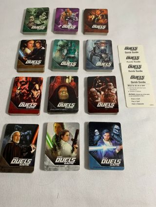Rare Star Wars Epic Duels Board Game 2002 - Replacement Cards 360 Total