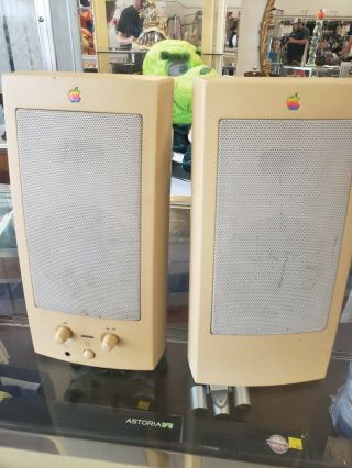 Vintage Apple Design Powered M6082 Computer Speakers 1993 Ultra Rare