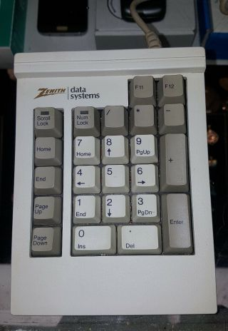 Made In Usa Rare Old Logo Zenith Data Systems Number Pad White Slider Switches