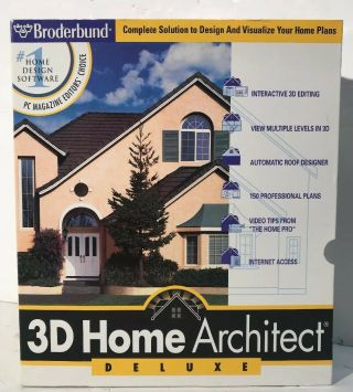 Rare Broderbund 3d Home Architect Deluxe Design Software