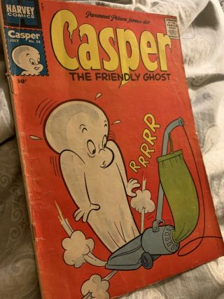 Casper The Friendly Ghost 57/58 Tv Comic Gem Rare 1950's Find