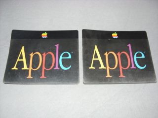 2 Vintage Apple See - Thru Mouse Pads - Rare