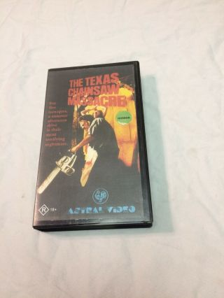 The Texas Chainsaw Massacre Vhs Astral Video Rare Horror Movie Clamshell Box