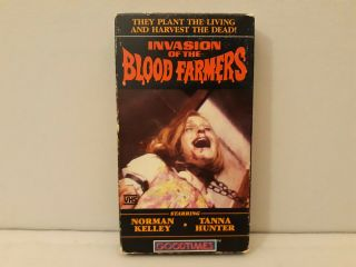 Invasion Of The Blood Farmers (vhs) Rare/oop Horror