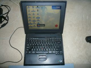 Vintage Ibm Thinkpad A21m Laptop With Windows 95 Installed Built - In Floppy,  Rare