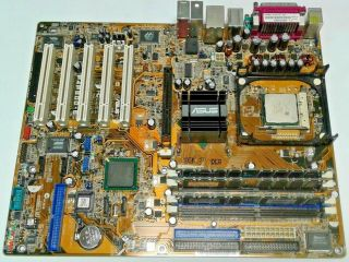 Motherboard Rare Asus P4p800 - E Deluxe Rev 1.  02 Intel 875p Ich5 Socket 478 P4 And