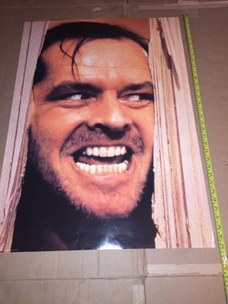 Rare Vintage Movie Poster,  The Shining,  Jack Nicholson,  1999 Printed In England