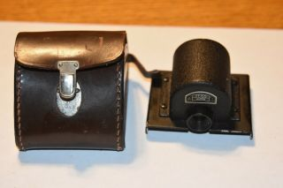 Rare Zeiss Ikon Ikoflex Tlr Camera Prism W.  Leather Case,  No Res.