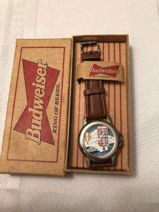 Vintage Rare Budweiser Watch: Hot Air Balloon - King Of Beers 1980s.
