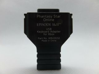 Phantasy Star Online Episode I & Ii Usb Keyboard Adapter For Xbox Rare No Game