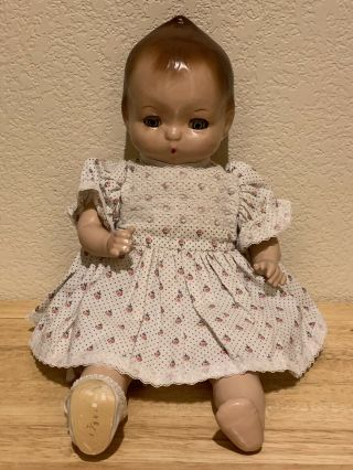 "Vintage Antique Rare Htf 1937 Horsman Jeanie Doll 14 "" Composition Cloth Baby"