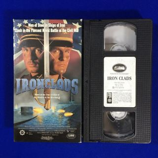 Ironclads Civil War Monitor Merrimack Vhs 1991 Oop Rare Not On Dvd