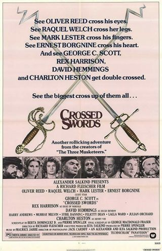 Rare 16mm Feature: Crossed Swords (cinemascope) George C.  Scott / Raquel Welch